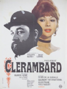 Vintage French movie poster - Clerambard